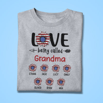 Love Being Call Grandma or Mom, Personalized July 4th Shirt, Family Gifts
