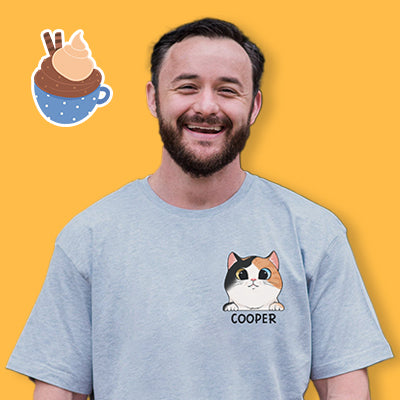 Cat Lovers Custom Shirt, Pocket Tee, Personalized Gifts for Cat Lovers