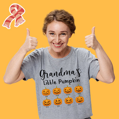 Grandma's Little Pumpkins, Custom Tee, Personalized Shirt, Funny Family gift for Grandmother