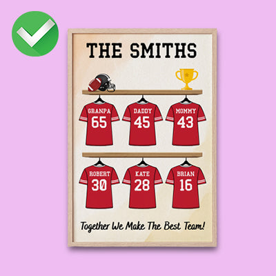 Personalized Dad's Dream Team Poster