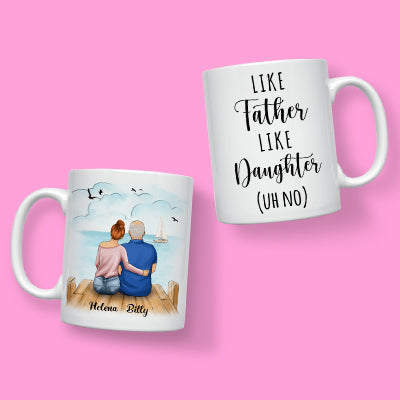 Father And Daughter Personalized Mug