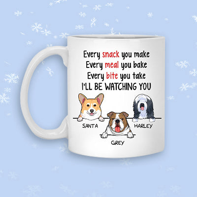 Watching You, Funny Personalized Mug, Father's Day gift, Custom Gift for Dog Lovers