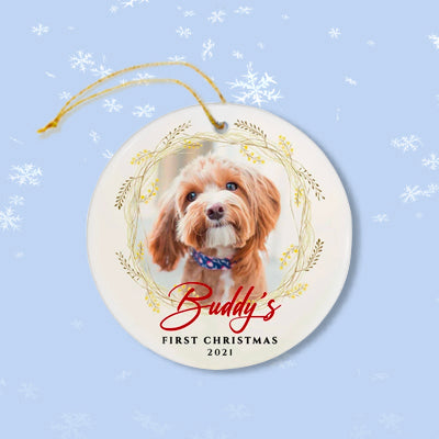 First Christmas 2021, Personalized Christmas Ornaments, Custom Photo Gift