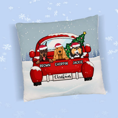 Christmas Dog Personalized Pillows, Custom Gift for Dog Lovers