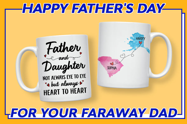 Long Distance Father and Daughter State Mug
