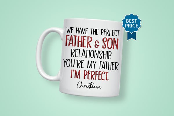 Father And Son Personalized Mug