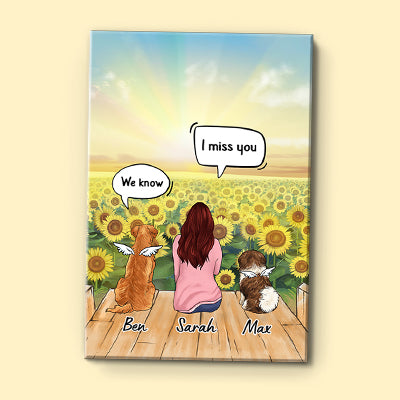 I Still Talk About You, Personalized Custom Canvas, Custom Gift for Dog Lovers, Memorial Gift