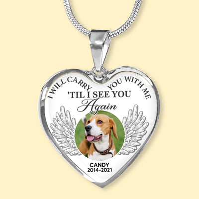 I Will Carry You With Me, Custom Photo, Luxury Heart Necklace