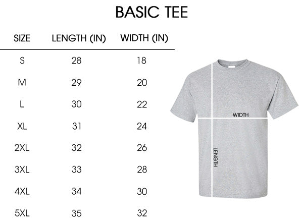 Sizing chart_Basic tee