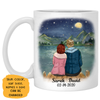 To my husband To the world you are one person, Night lake view, Anniversary gifts, Personalized gifts for him