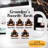 Dad's Favorite Turds Customized coffee mug, Personalized gift, Funny Father's Day gift