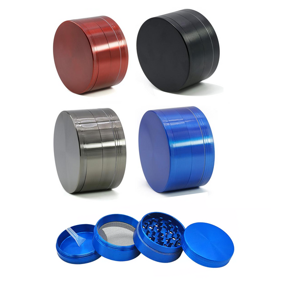 Aluminum Grinder, 52 mm x 34 mm, 4 parts
