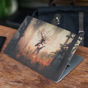 Forest Fire Laptop Skin