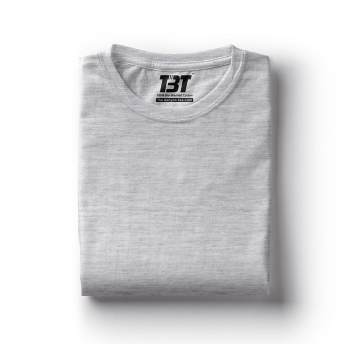 plain t-shirt india ecru melange grey t-shirts the banyan tee tbt basics buy plain tshirts india