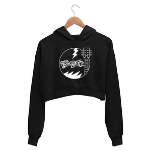 Aerosmith Crop Hoodie Crop Hooded Sweatshirt for Women The Banyan Tee TBT