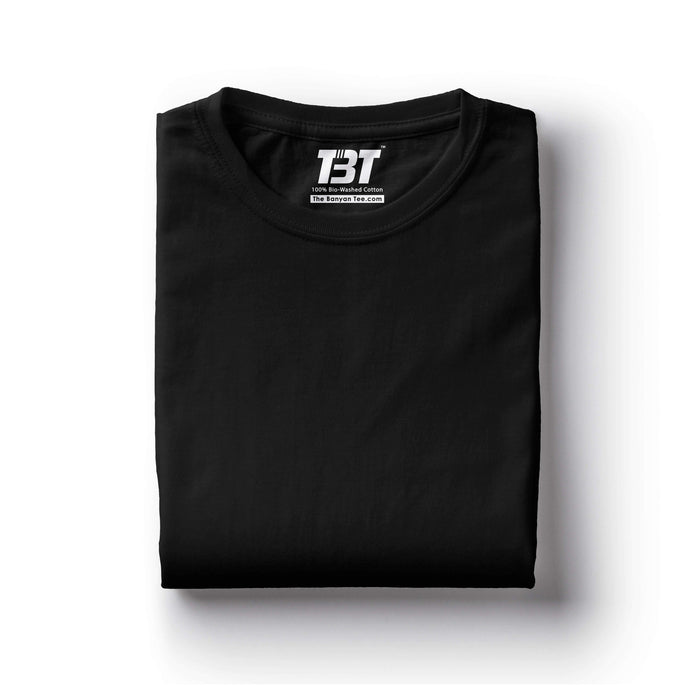 plain t-shirt india black t-shirt black  tshirts black tshirt the banyan tee tbt basics buy plain tshirts india