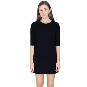 black t-shirt dress the banyan tee 3/4th sleeves tshirt dresses