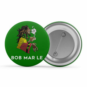 Bob Marley Badge - Mar Le Metal Pin Button The Banyan Tee TBT