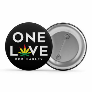 Bob Marley Badge - One Love Metal Pin Button The Banyan Tee TBT