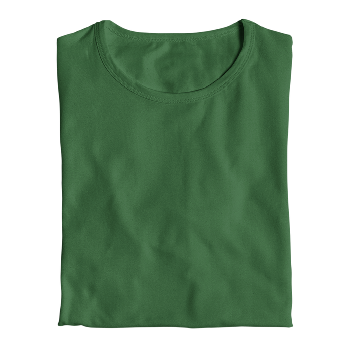 bottle green tops by the banyan tee plain bottle green cotton top