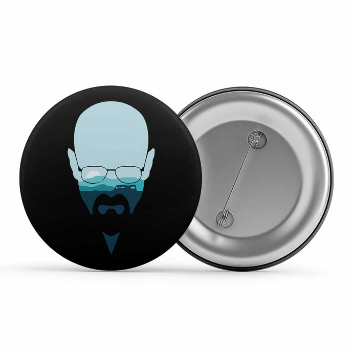 Breaking Bad Badge - Walter White Metal Pin Button The Banyan Tee TBT
