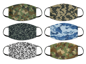 camouflage mask combo army combat pattern cloth mask