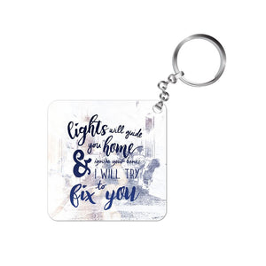 coldplay keychain keyring rock music band fix you