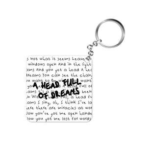 coldplay keychain keyring rock music band head full of dreams