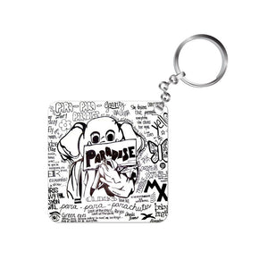 coldplay keychain keyring rock music band paradise