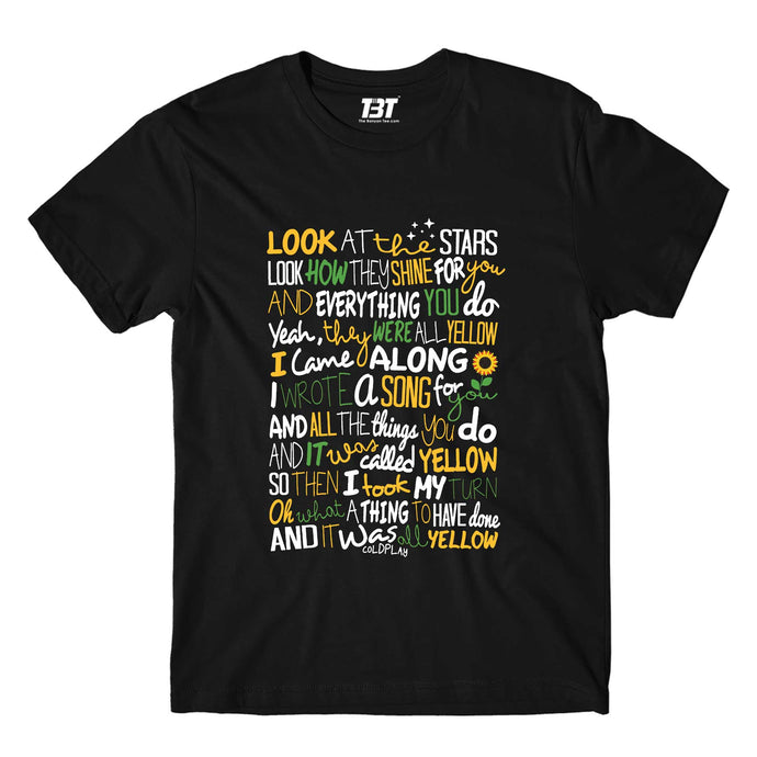 Coldplay T-shirt - Yellow T-shirt The Banyan Tee TBT