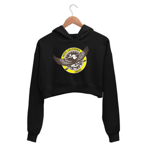 Eagles Crop Hoodie - Hotel California Crop Hooded Sweatshirt for Women The Banyan Tee TBT