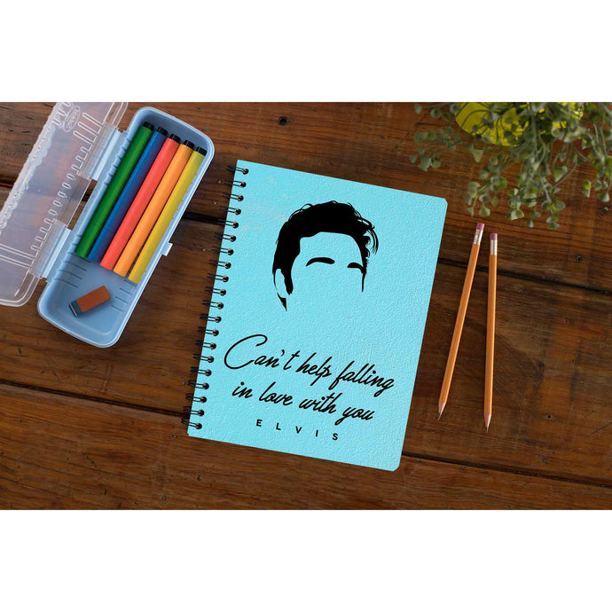 Elvis Presley Notebook - Can't Help Falling In Love With You Notebook The Banyan Tee TBT