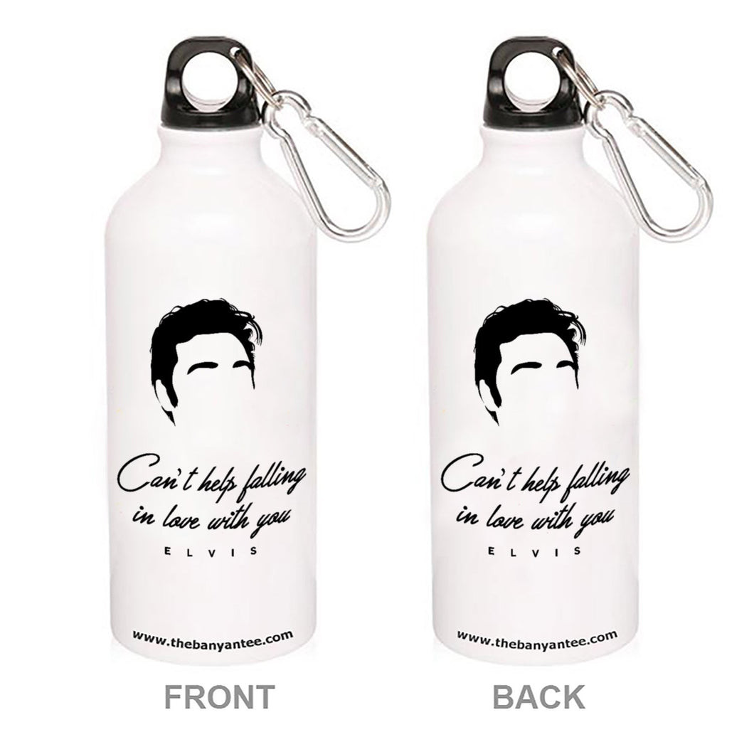 Elvis Presley Sipper - Can't Help Falling In Love With You Sipper Metal Water Bottle The Banyan Tee TBT