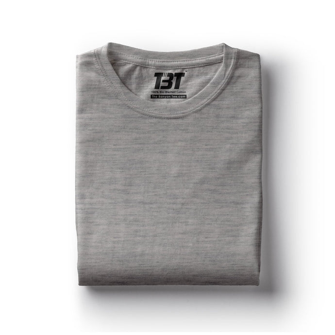 plain t-shirts plain t-shirt india grey t-shirts grey melange tshirts the banyan tee tbt basics buy plain tshirts india