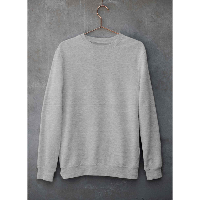 Plain Grey Melange Sweatshirt The Banyan Tee weatshirts and hoodies for men for women