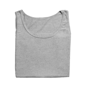 grey melange tank tops by the banyan tee plain cotton grey melange tank top or women girls india  for girls for women for gym