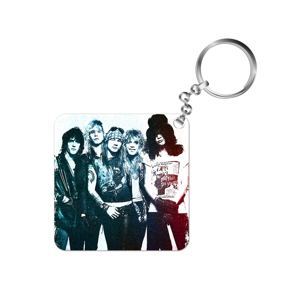 guns n roses keychain music band metal rock