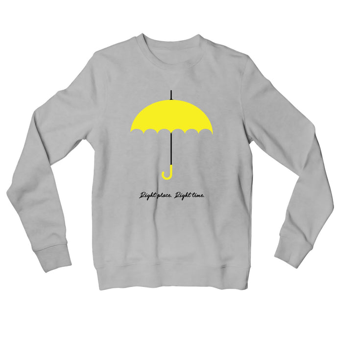 How I Met Your Mother Sweatshirt - Right Place Right Time Sweatshirt The Banyan Tee TBT