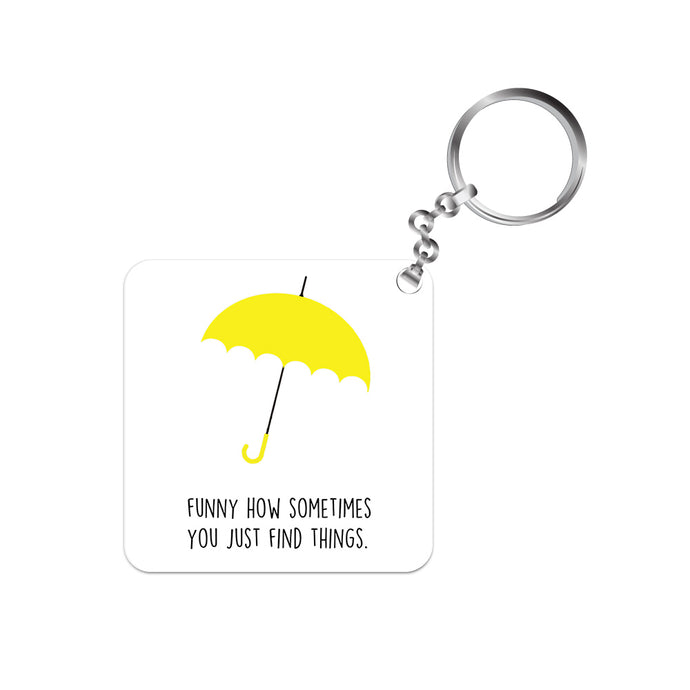 How I Met Your Mother Keychain - Yellow Umbrella The Banyan Tee TBT