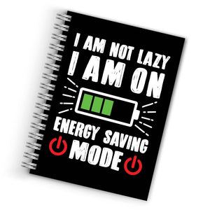 Buy Cool I Am Not Lazy Notebook THE BANYAN TEE Notebook Quotes Notebook in INDIA