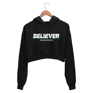 Imagine Dragons Crop Hoodie - Believer Crop Hooded Sweatshirt for Women The Banyan Tee TBT