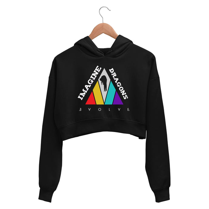 Imagine Dragons Crop Hoodie - Evolve Crop Hooded Sweatshirt for Women The Banyan Tee TBT