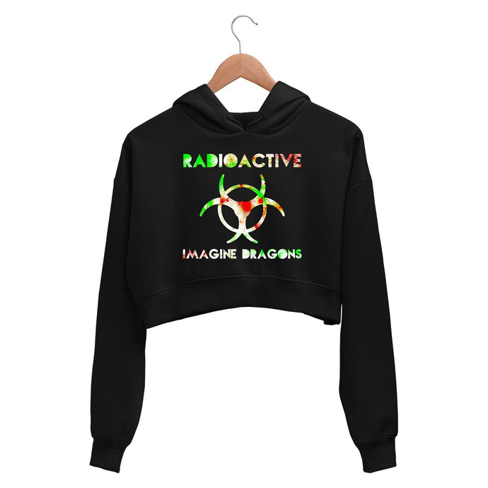 Imagine Dragons Crop Hoodie - Radioactive Crop Hooded Sweatshirt for Women The Banyan Tee TBT