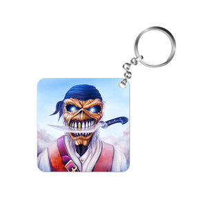 iron maiden keychain band music rock metal death keyring