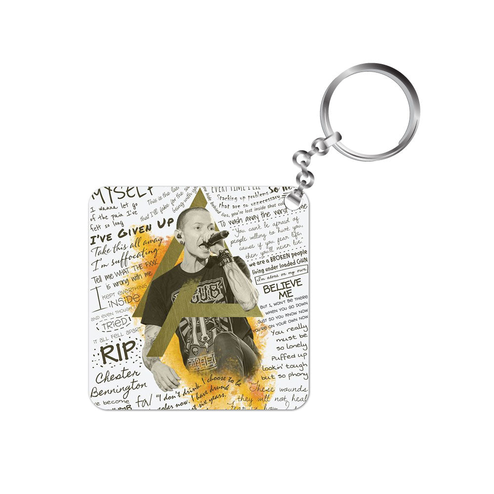 linkin park keychain keyring music band rock Chester Bennington