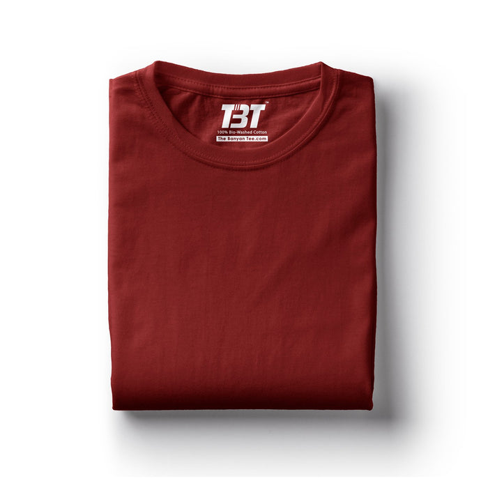 plain t-shirts plain t-shirt india maroon t-shirts dark red tshirts the banyan tee tbt basics buy plain tshirts india
