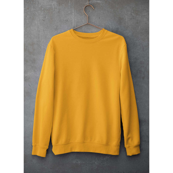Plain Yellow Sweatshirt The Banyan Tee weatshirts and hoodies for men for women