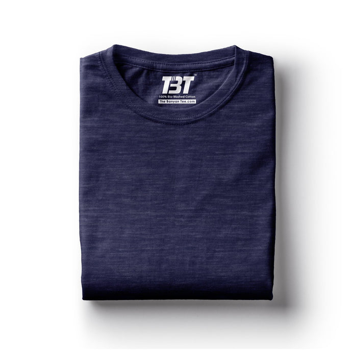 plain t-shirt india navy melange blue melange navy blue t-shirts the banyan tee tbt basics buy plain tshirts india