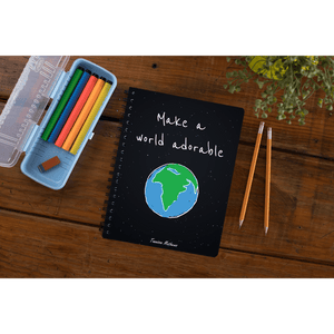 Make A World Adorable Notebook by Tannison Mathews