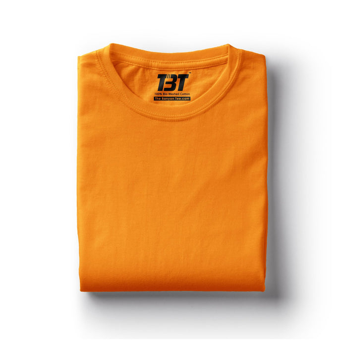 plain t-shirts plain t-shirt india yellow t-shirt orange  tshirts chrome yellow tshirt the banyan tee tbt basics buy plain tshirts india